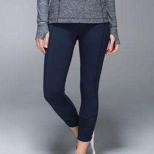 Lululemon Runday Crop Leggings Inkwell